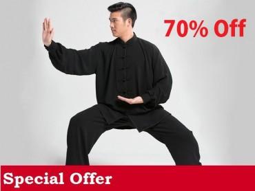 Tai Chi Clothing Set Men Spring Black