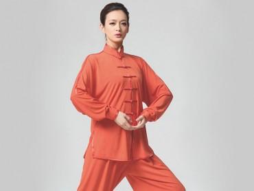 Tai Chi Clothing Set Casual Style Orange