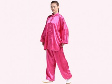 Tai Chi Clothing Silk-like Fabric Rosy