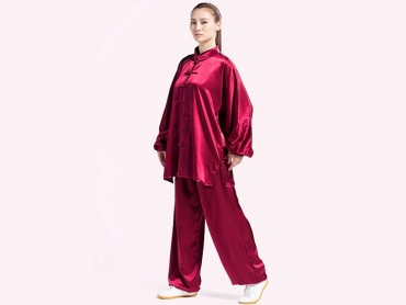 Tai Chi Clothing Silk-like Fabric Red