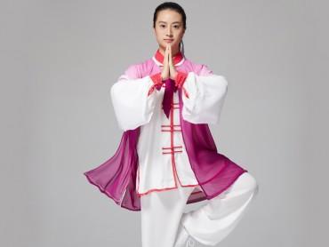 Tai Chi Outside Gradient Color Purple Veil Shawl