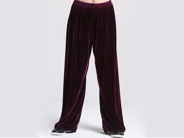 Tai Chi Pants Pleuche for Men and Women Violet