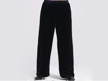 Tai Chi Pants Pleuche for Men and Women Navy
