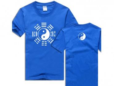 Tai Chi T-shirt Eight Trigrams Blue