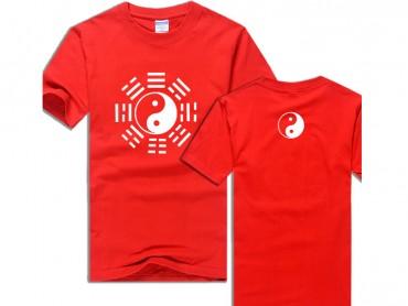 Tai Chi T-shirt Eight Trigrams Red