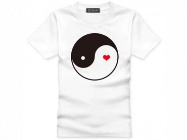 Tai Chi T-shirt Heart White