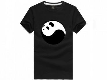 Tai Chi T-shirt Panda Black