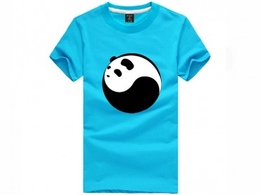 Tai Chi T-shirt Panda Light Blue