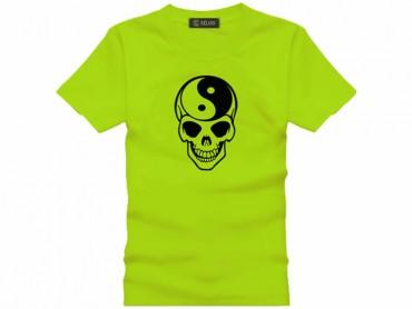 Tai Chi T-shirt Skull Green