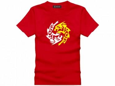 Tai Chi T-shirt Vintage Beast Red