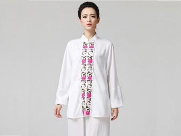 Tai Chi Clothing women long-sleeved White Uniform