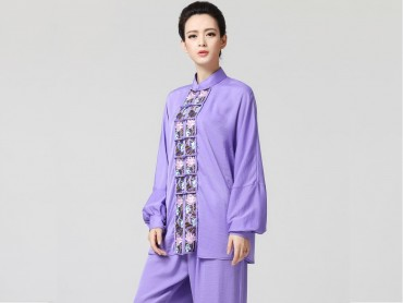 Tai Chi Clothing women long-sleeved Purple Uniform