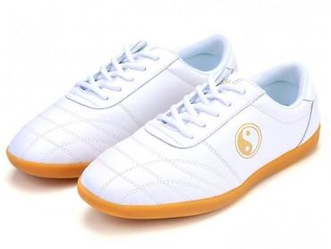 Kung Fu Shoes Soft Leather White Jinwu