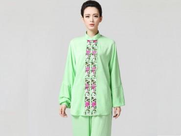 Tai Chi Clothing women long-sleeved Green Uniform