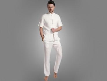 Traditional Kung Fu Clothing Casual Tai Chi T-shirts White