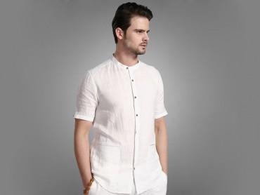 Traditional Kung Fu Clothing Causal Set White