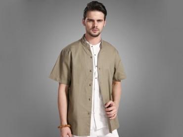Traditional Kung Fu Clothing T-shirts Green