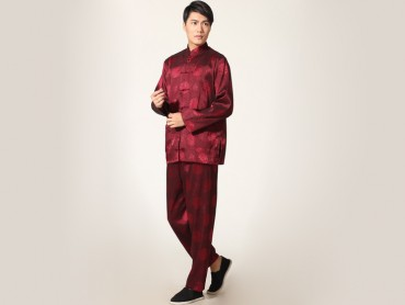 Traditional Kung Fu Clothing Tai Chi for Men Claret