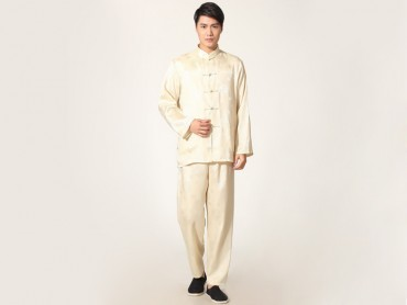 Traditional Kung Fu Clothing Tai Chi for Men Golden