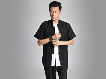 Traditional Kung Fu Clothing Tai Chi T-shirt Black