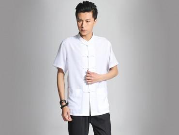 Traditional Kung Fu Clothing Tai Chi T-shirt White