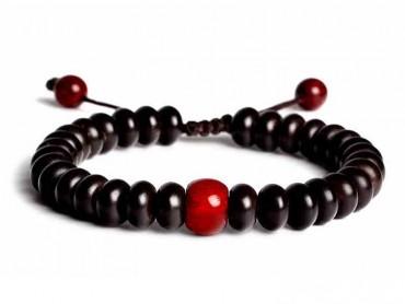 Traditional Tibet Buddhist Prayer 18 Indonesia Coconut shell Beads Adjustable Mala