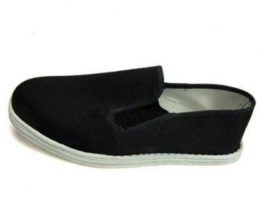 Vintage Hand Made Multiple Cotton layers sole Tai Chi Shoes Black