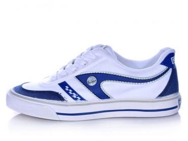 Warrior Footwear Casual Shoes Badminton Shoes White Blue Strip