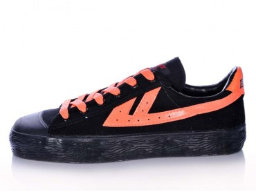 Warrior Footwear Black Orange Basketball Shoes