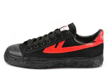 Warrior Footwear Black Red Basketball Shoes