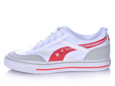 Warrior Footwear Casual Shoes White Red Stripe