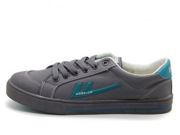Warrior Footwear Grey Green Canvas Sneaker
