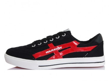 Warrior Footwear Lovers Casual Shoes Black Red