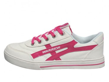 Warrior Footwear Lovers Casual Shoes White Pink