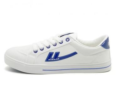 Warrior Footwear White Blue Canvas Sneaker