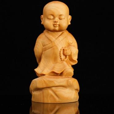 Boxwood Carving Dek Wat Ornament Handicraft Tea Plaything