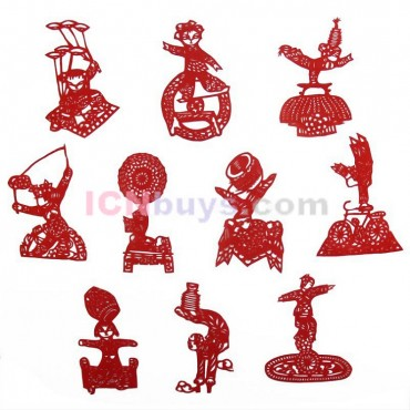 Chinese Paper Cutting Ancient Musical Instruments