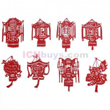 Chinese Paper Cutting Chinese Lantern Set