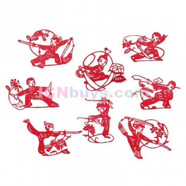 Chinese Paper Cutting Chinese Martial Arts Set
