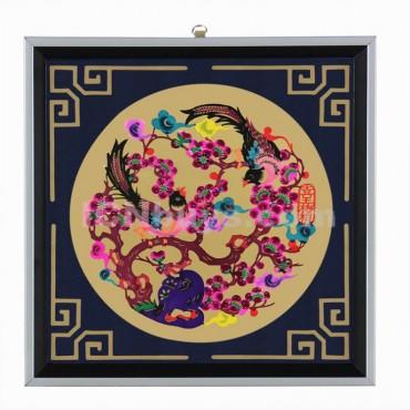 Decorative Paper-cut Frame Happy Magpie