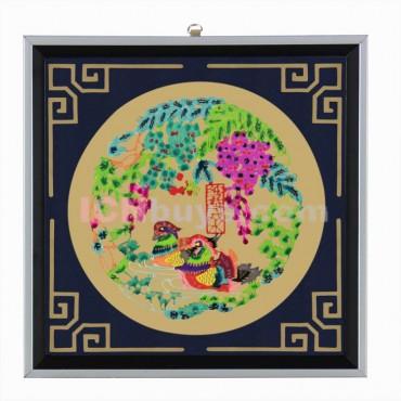 Decorative Paper-cut Frame Mandarin Duck