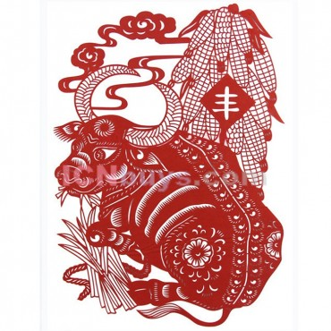 Paper Cutting Chinese Zodiac Ox Patient