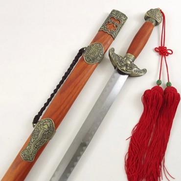 Chinese Sword Kingdom Qianlong Sword Redwood