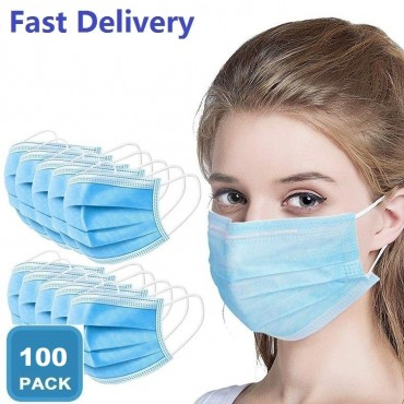 200 Pieces of Professional Mouth Mask 3 Layers Disposable Anti-Dust Anti-Fog Fast Delivery