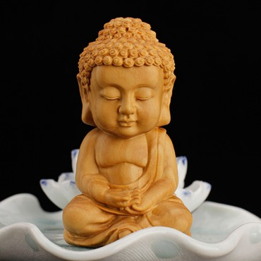 Wood Carving Buddha Creative Ornament Handicraft