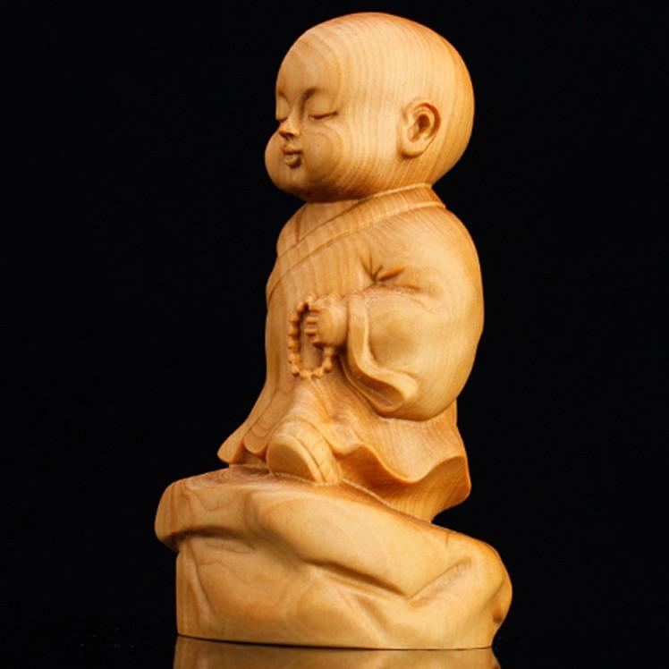 Boxwood carving dek wat ornament tea plaything