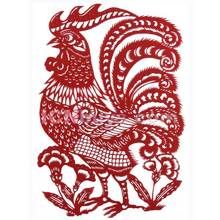 ... , Paper Cutting Chinese Zodiac Rooster Deep Thinkers @ ICNbuys.com