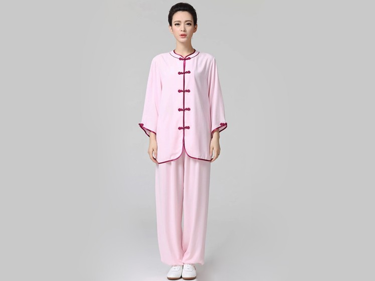 Red/Pink Women Nightwear 50% Mulberry Silk Home Clothing Set Women Pants Tops Sleepwear