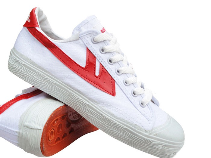 Warrior Footwear Classic - White/Red shoes @ ICNbuys.com