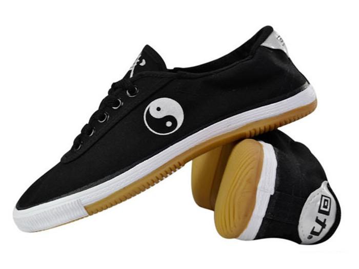 warrior kung fu shoes black tai chi pattern kung fu shoes